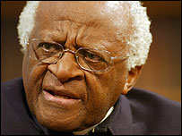 Archbishop Desmond Tutu speaking to the BBC in 2004