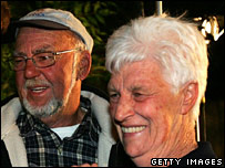 Noel and Kaye Russell, parents of trapped miner Todd Russell, after hearing that their son is alive