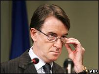 EU trade commissioner Peter Mandelson