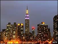 Empire State Building and Manhattan skyline