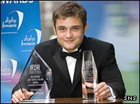 Shaun Maloney with his two awards