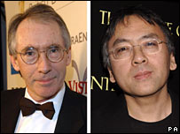 Ian McEwan (left) and Kazuo Ishiguro