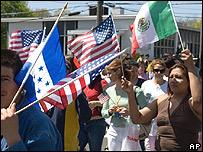 Protestas de inmigrantes en Danbury, Connectticut.
