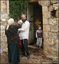 Jewish settler family who face forced eviction from a Palestinian home in Hebron