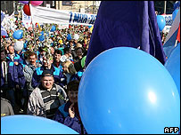 May Day rally in Moscow