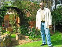 Reggie Nkosi in his garden