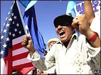 Manifestante mexicano