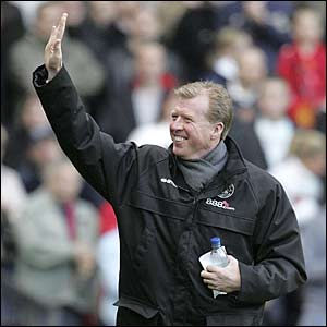 Boro boss Steve McClaren arrives at Old Trafford