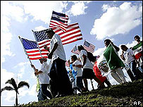 Manifestantes en Homestead, Florida