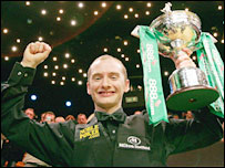 Newly-crowned world snooker champion Graeme Dott