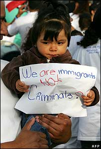 Child on the protest in Los Angeles