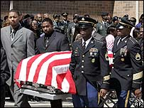 Funeral of Keith Bender in Detroit, 27 April