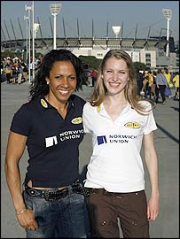 Kelly Holmes and Hannah Brooks