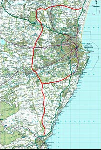 Planned bypass route