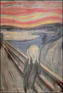 The Scream, painted in 1893, is Munch's most iconic work