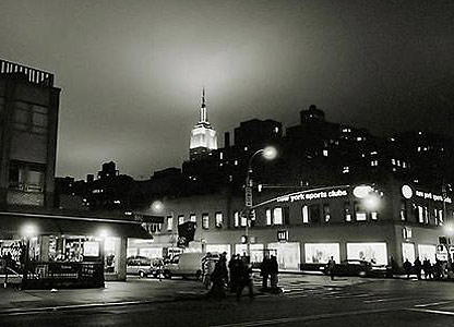 The peak of the ESB at night, November 2003