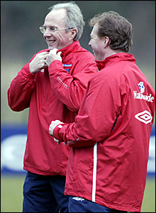 England manager Sven-Goran Eriksson (left) and Steve McClaren