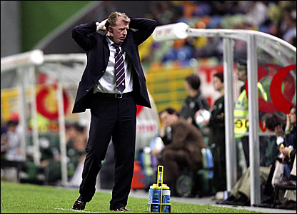 Steve McClaren reacts after Boro are knocked out of the Uefa Cup