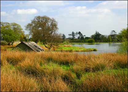 Margam Park boathouse and lake, taken by Anthony Rose of Cwmavon