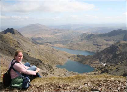Gethin Evans from Monmouth sent in this picture of his partner Shannon, on top of Snowdon