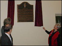 The unveiling ceremony
