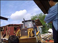 Demolition work in Malaysia