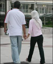 Hands held in Kuala Lumpur