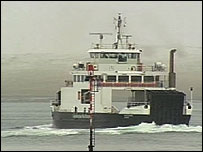 Ferry arriving