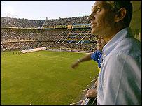 Lineker y Maradona en la Bombonera