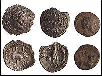 Wanborough coins, picture courtesy of the Portable Antiquities Scheme