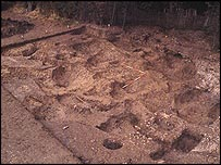 Damage at the Wanborough site, picture courtesy of the Portable Antiquities Scheme