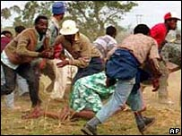 Chaos at an ANC rally in 1992, where 24 people were shot dead by South African troops