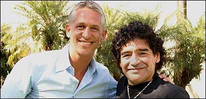 Gary Lineker y Diego Maradona