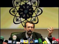 رئيس مجلس الأمن القومي الإيراني علي أكبر لاريجاني