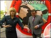 Joanna Lumley and Gwyn Prosser