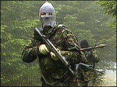 Hooded IRA gunman