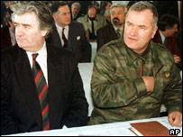 Radovan Karadzic and Gen Mladic. File photo