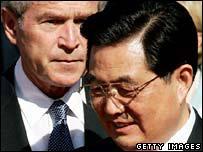President Bush and Hu Jintao