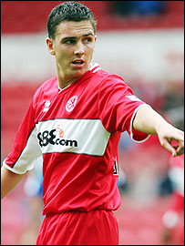 Middlesbrough's Stewart Downing