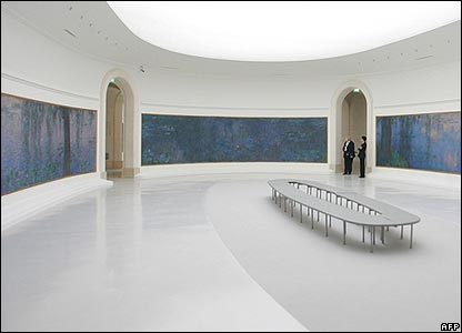 The Nympheas room at the Orangerie Museum