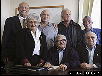 Members of Israel's Pensioners Party who won seats