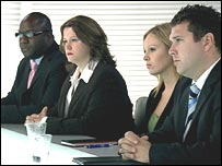 The last four contestants in The Apprentice