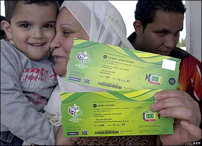 World Cup Ticket. son with World Cup tickets