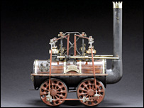 George Stephenson's Locomotion No.1 model