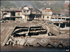 Quake damage at Balakot - 90 kms (56 miles) from Islamabad, Pakistan