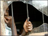 An orphan in Harare, Zimbabwe
