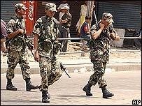 Nepalese troops