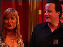 David Cameron with weather presenter Sian Lloyd