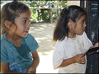 Children of coffee farmers at La Trinidad co-operative