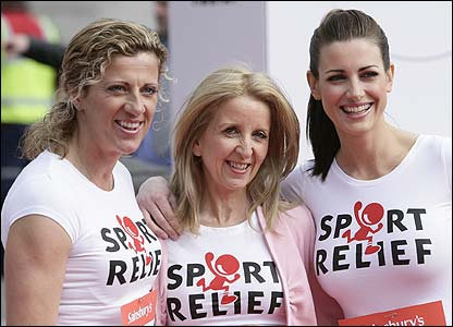 Sally Gunnell, Gillian McKeith and Kirsty Gallagher